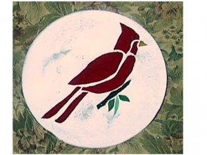 Round Cardinal Stepping Stone