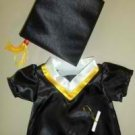New Grad Cap & Gown Outfit ~ fits Build A Bear and other 15inch Animals