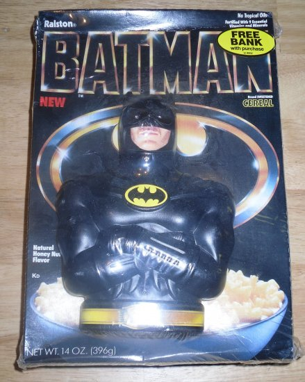 Batman 1989 Ralston Cereal with Bank