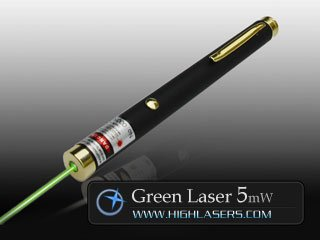 Invader Series 532nm 5mW Green Laser Pointer