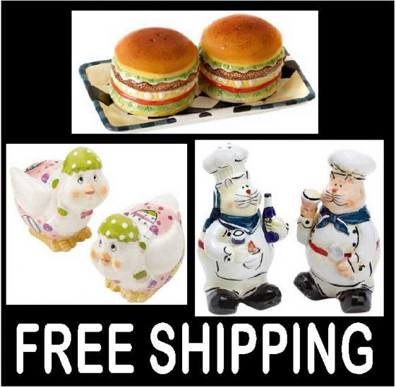 3 Unique Salt And Pepper Shakers Sets