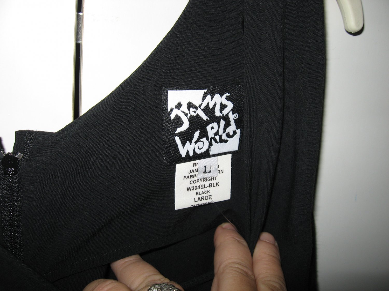 Jams World little black rayon dress Large NWT