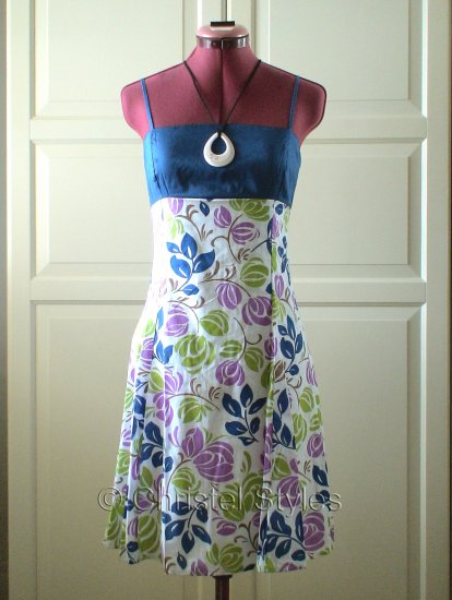 Floral Empire A-Line Spaghetti Summer Dress Size M (was $22)