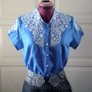 Classic Embroidered Blue Women's Shirt Size L (was $19)