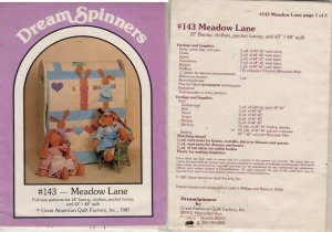 Meadow Lane - Bunny Quilt - Dream Spinners #143 Pattern