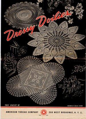 Vintage Dressy Doilies Crochet Leaflet 87