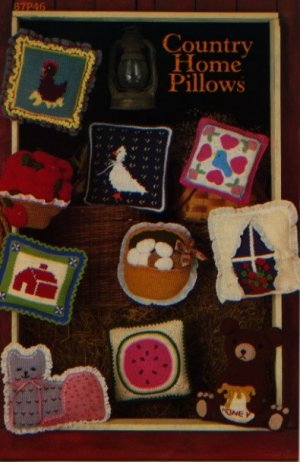 Annie&#039;s Attic Crochet Country Home Pillows Pattern 87P46