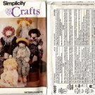 "Simplicity Crafts 7820 Doll & Clothes 22"" Pattern - Uncut"