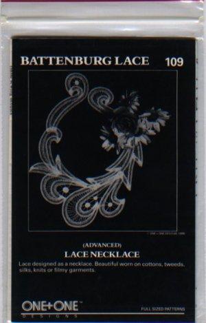 Battenburg Lace Pattern 109 Lace Necklace One+One Designs