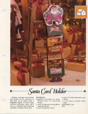 Vanessa Ann - Christmas in Cross Stitch - Santa Card Holder Chart