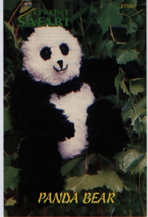 Annies Attic Crochet Safari Panda Bear  Pattern 87S64