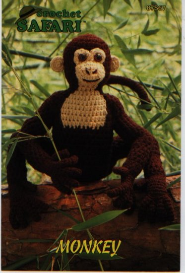 Annie S Attic Crochet Safari Monkey Pattern 87s67