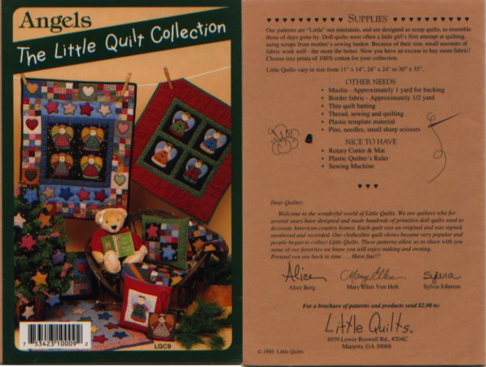 Angels The Little Quilt Collection Pattern LQC9