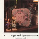 Vanessa Ann - Angels and Evergreens - Cross Stitch Pillow Chart