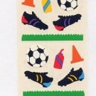 Mrs Grossman's Soccer Stickers #1F Yellow/Red