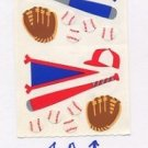 Mrs Grossman's Baseball Stickers #1A Blue/Red