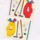 Mrs Grossman's Golf Stickers #1K Red/Yellow