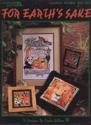 For Earth's Sake Cross Stitch Leisure Arts Leaflet 2585