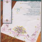 Dimensions Dresser Scarf in Stamped Embroidery Violets Nosegay 73366