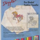 Dizzle Pre-Shaded Fashion Transfer Carousel Horse 50038