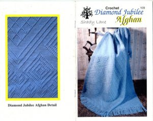Denim diamonds afghan, free crochet pattern.