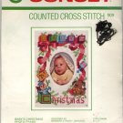 "Counted Cross Stitch Baby's Christmas Photo Frame Kit fits 5"" x 7"" Frame"