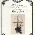 Star of India Charted Graph for Cross Stitch and Needlpoint