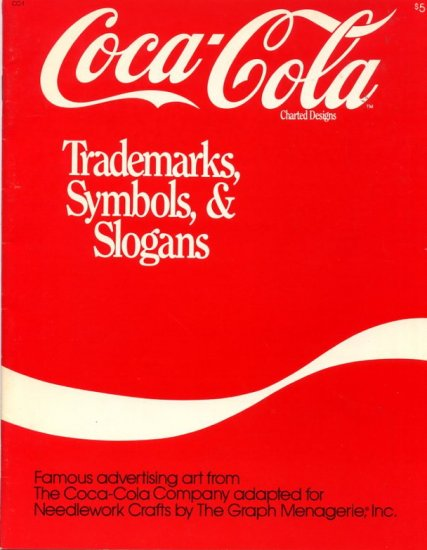 Coca-Cola Charted Designs Trademarks, Symbols & Slogans Pattern Book