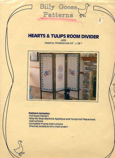 Hearts & Tulips Room Divider Applique Pattern