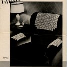 Vintage Crochet Chair Set Leaflet Design No 7158
