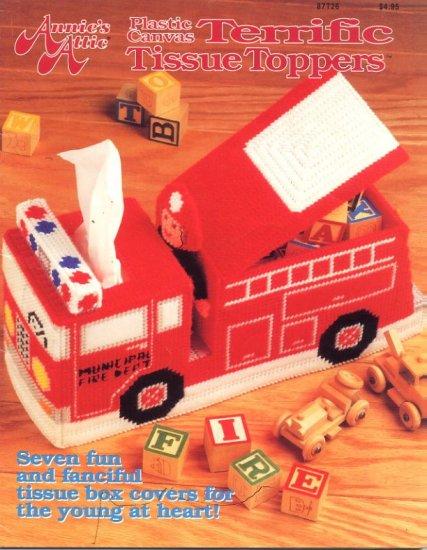 Annie's Attic Plastic Canvas Terrific Tissue Toppers Booklet 87T26