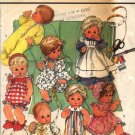 "Simplicity 7644 Wardrobe for Baby Dolls Pattern Sm 13"" -14"" doll - Uncut"