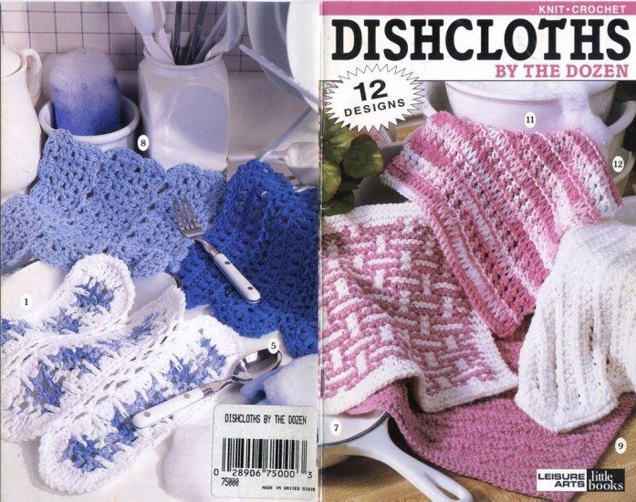 Knitted Dishcloth Pattern Books : Dishcloths by the Dozen Leisure Arts Leaflet 75000 Knit Crochet Patterns