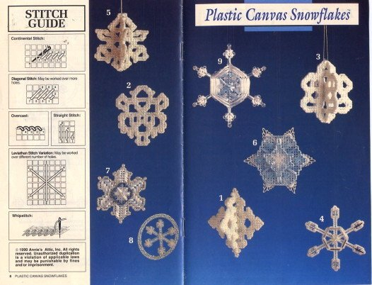 Plastic Canvas Snowflakes Pattern Annies Attic