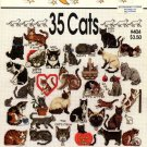 One Nighters 35 Cats Cross Stitch Leaflet #404 Jeanette Crews Designs