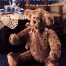 "My Country Bear 10"" Bear by Alexia Roosevelt Leisure Arts Leaflet 1229"