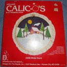 "Applique Calic-o's Kit in 10"" Framing Hoop - Winter Scene #2206"