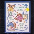 Janlynn &quot;Sleepy Bunnies Birth Sampler&quot; Cross Stitch Kit