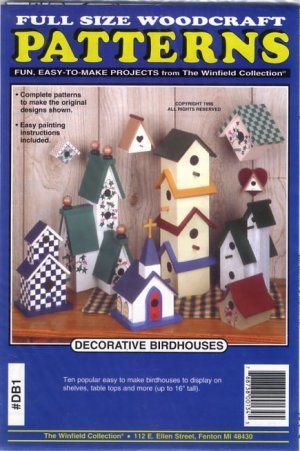 Decorative Birdhouses Full Size Woodcraft Pattern No DB1