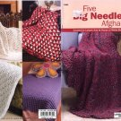 Knit Five Big Needle Afghans - Leisure Arts little books - 75139