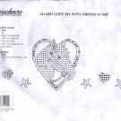 Herrschners #11-2811 Love My Pony Dresser Scarf to Embroider or Cross Stitch