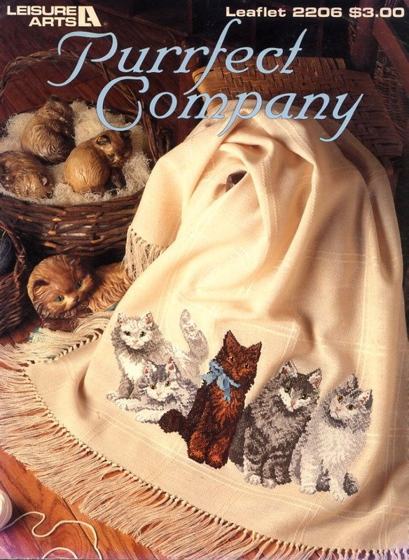 Purrfect Company - Leisure Arts Leaflet 2206 Cross Stitch