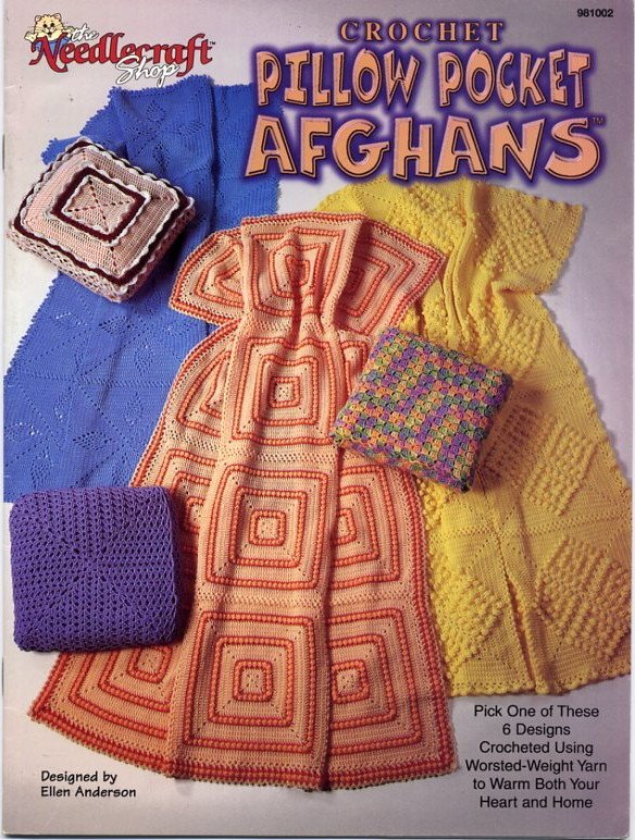 Crochet Pillow Pocket Afghans Book - The Needlecraft Shop 981002