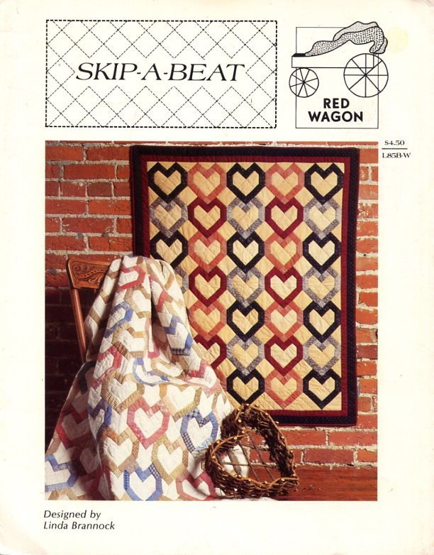 Skip-A-Beat Quilt Pattern - Red Wagon L85B-W