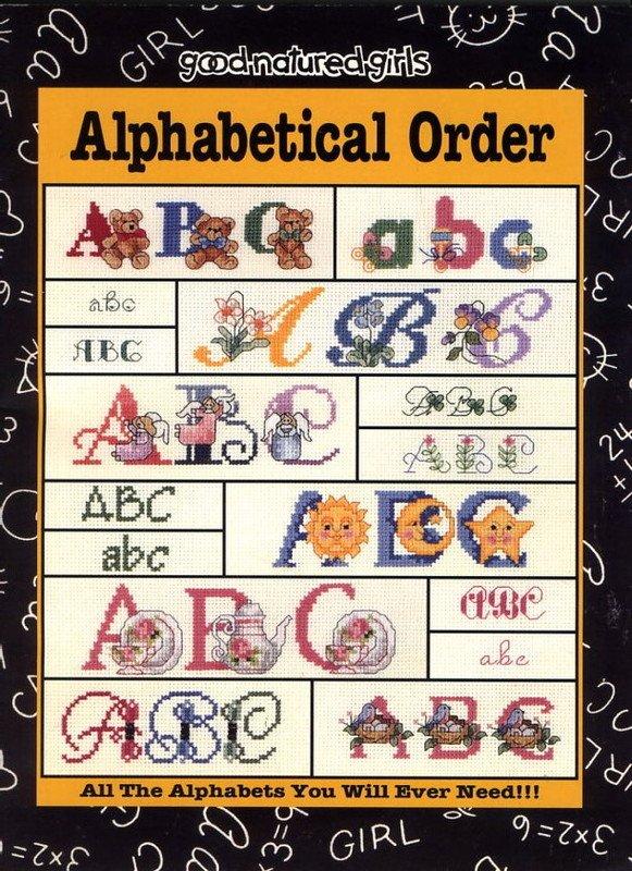 Alphabetical Order Cross Stitch Book -Good Natured Girls #24503