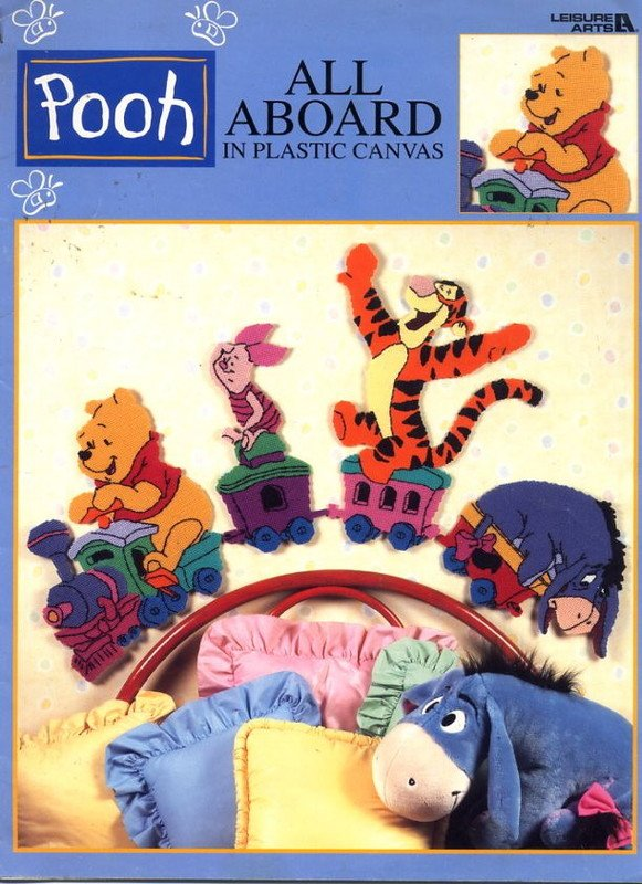 Pooh All Aboard in Plastic Canvas Leaflet 1882 Leisure Arts
