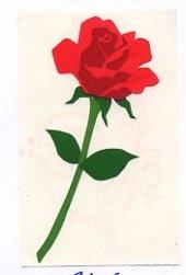 Mrs Grossman's Red Rose Sticker #8L