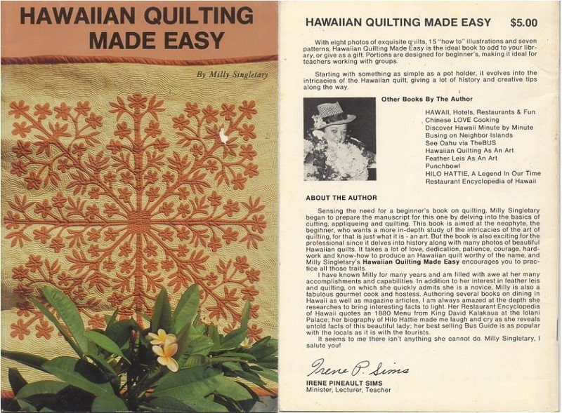 Hawaiian Quilting Made Easy Book by Milly Singletary