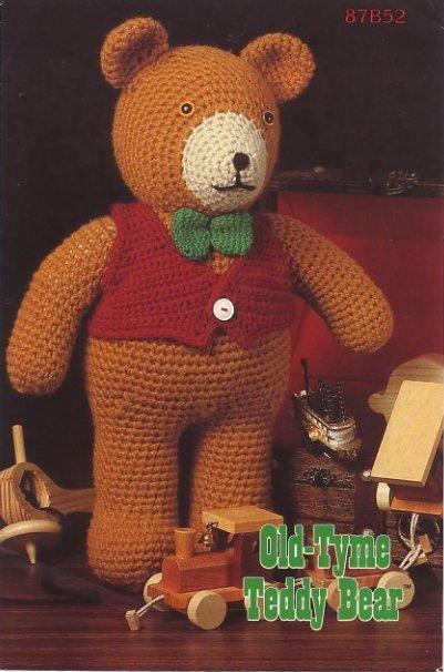 Annie's Attic Crochet Old-Tyme Teddy Bear Pattern 87B52