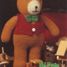 Annie's Attic Crochet Old-Tyme Teddy Bear Pattern 87B52